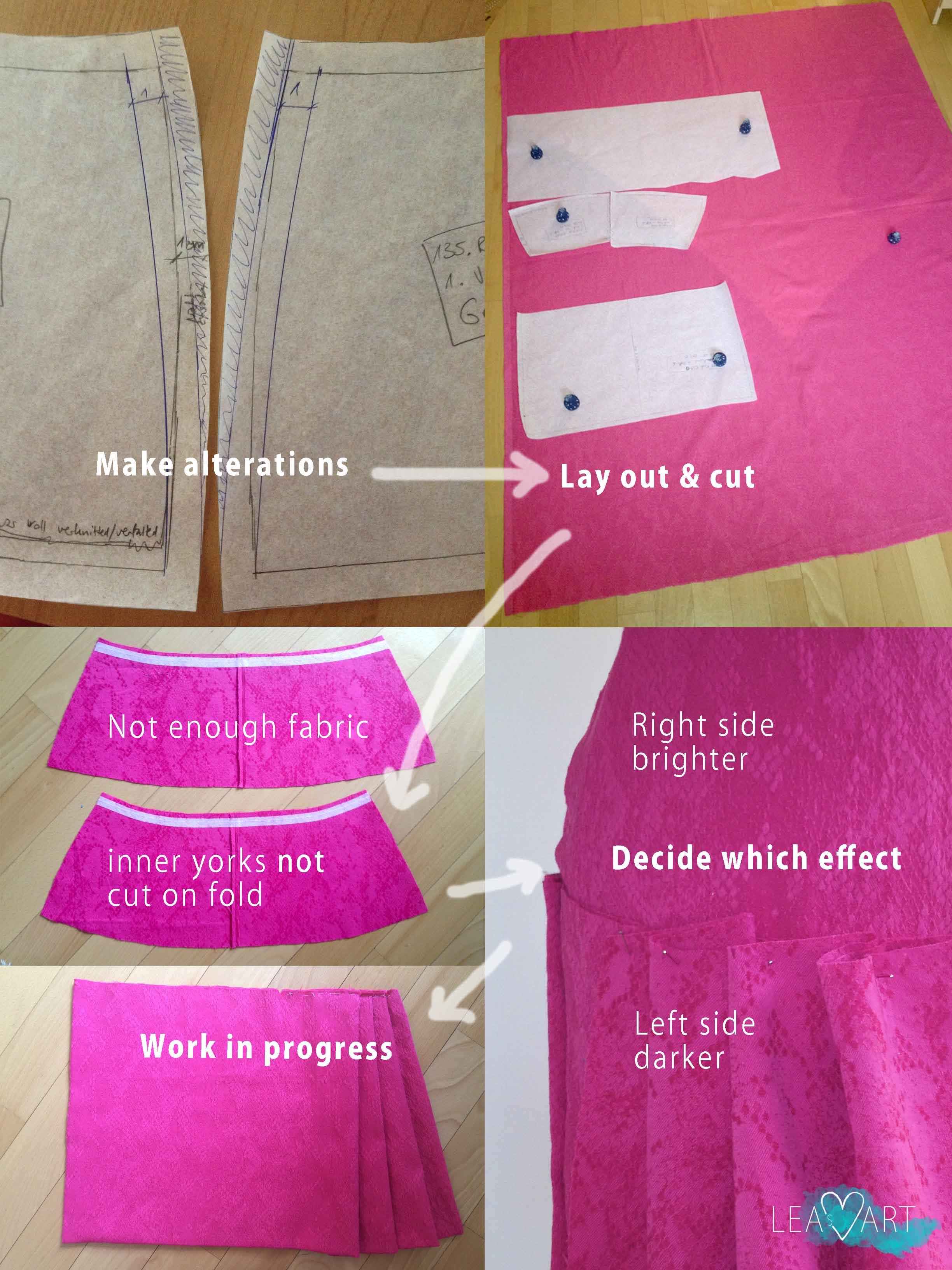 Pink skirt WIP