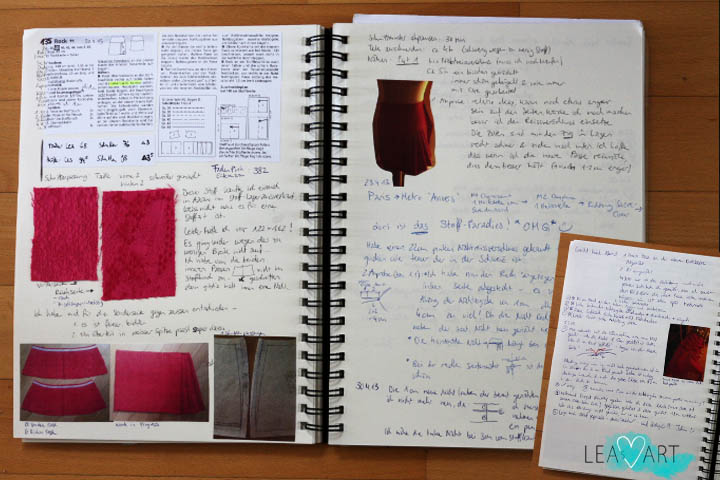 Sewing Journal Pink Skirt